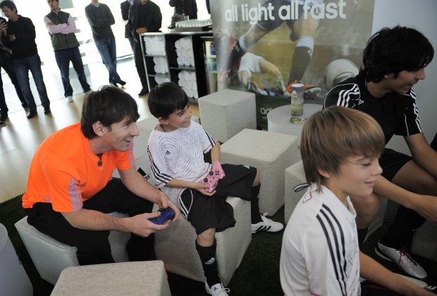 Image result for Messi play station playing
