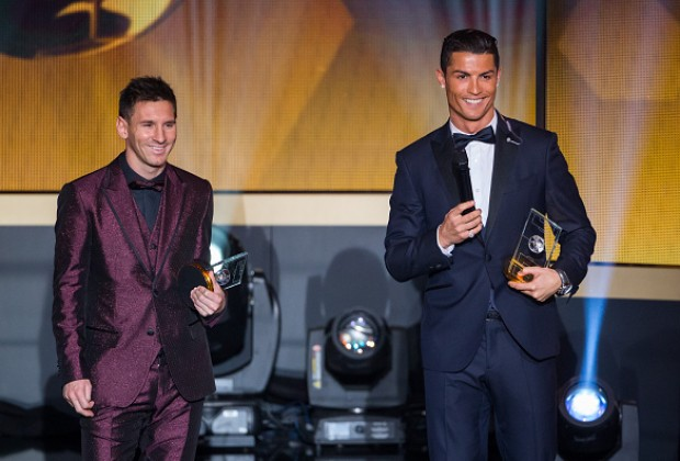 Cristiano Ronaldo Lionel Messi Share Trophy For The First Time