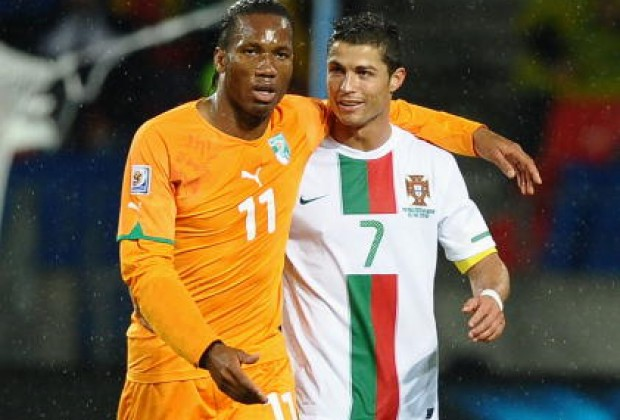 Image result for drogba ronaldo
