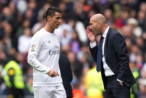 Image result for zidane with ronaldo
