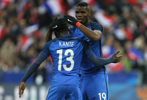 Image result for Kante with Pogba