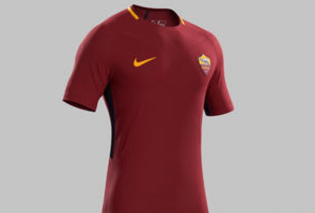 00bc16a6a Roma s new 2017 18 Nike home kit. 1495702578 916f0