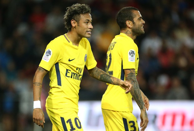 Image result for dani alves with neymar