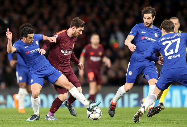 Image result for barcelona vs chelsea 2018 champions league