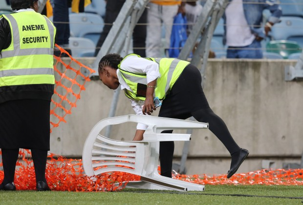 Female security guard severely beaten by angry Kaizer Chiefs fans