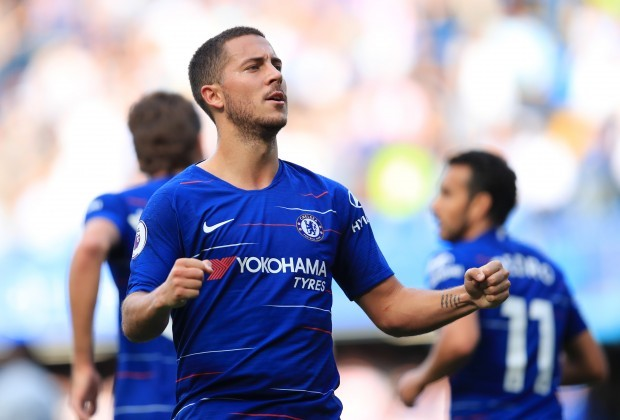Eden Hazard reacts to Chelsea FC's 3-0 win at Southampton